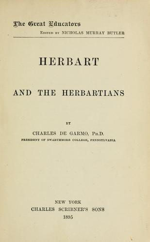 Download Herbart and the Herbartians