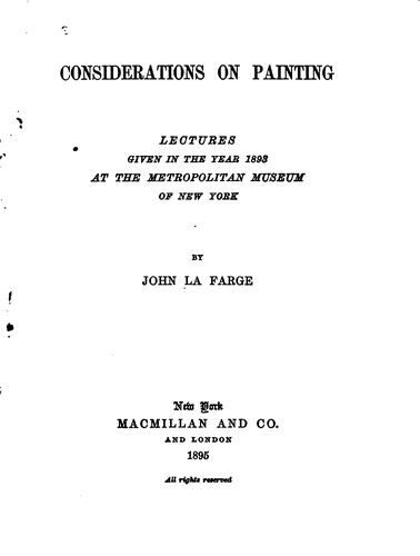 Download Considerations on painting