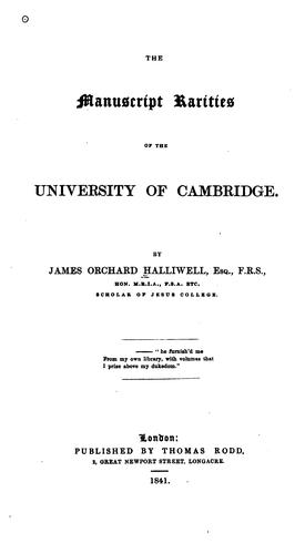 Download The manuscript rarities of the University of Cambridge