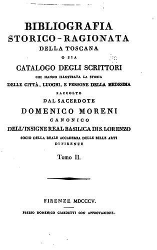 Bibliografia storico-ragionata della Toscana