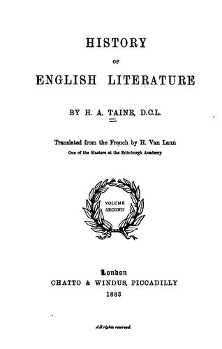 Download History of English literature.