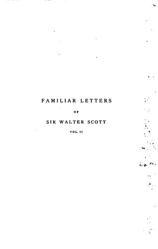 Download Familiar letters of Sir Walter Scott.