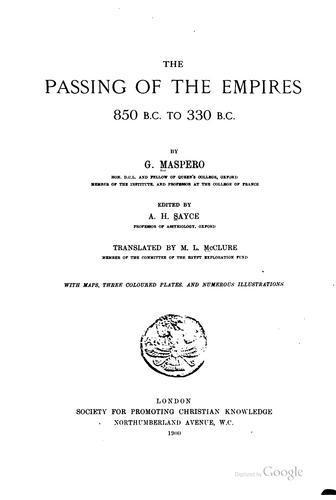 The passing of the empires