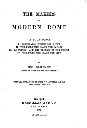Download The makers of modern Rome