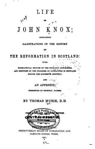 Life of John Knox.