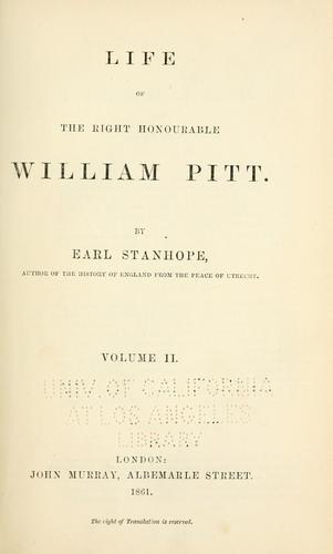 Download Life of the Right Honourable William Pitt.