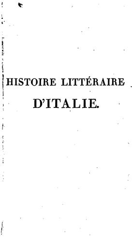 Download Histoire littéraire d'Italie