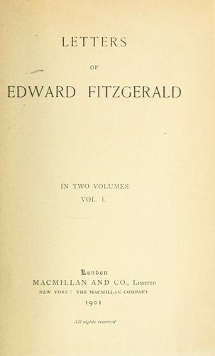 Download Letters of Edward FitzGerald.