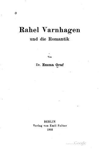 Rahel Varnhagen und die romantik
