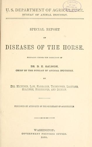 Download Special report on diseases of the horse.