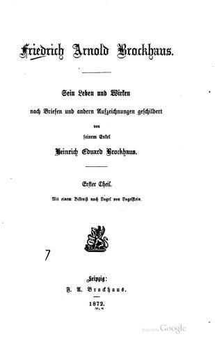 Friedrich Arnold Brockhaus.