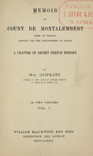 Download Memoir of Count de Montalembert