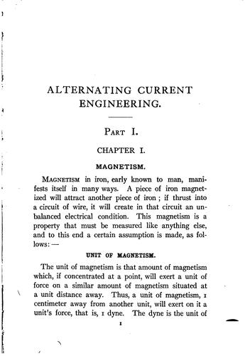 Alternating current engineering practically treated