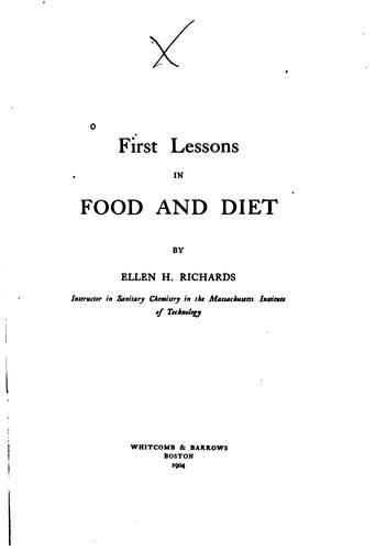 Download First lessons in food and diet