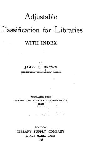 Download Adjustable classification for libraries