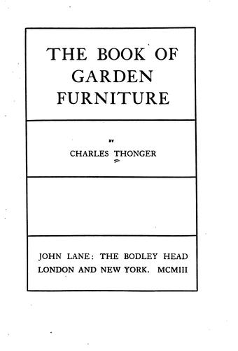 Download The book of garden furniture.