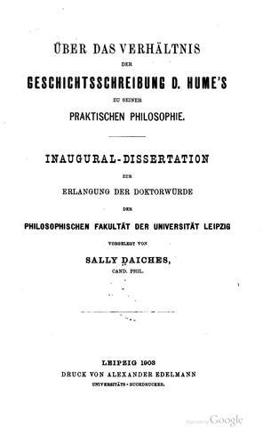 Download Über das verhältnis der Geschichtsschreibung D. Hume's zu seiner praktischen Philosophie …