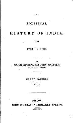 Download The political history of India, from 1784 to 1823.