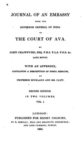 Journal of an embassy from the Governor-General of India to the court of Ava