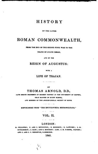Download History of the later Roman commonwealth