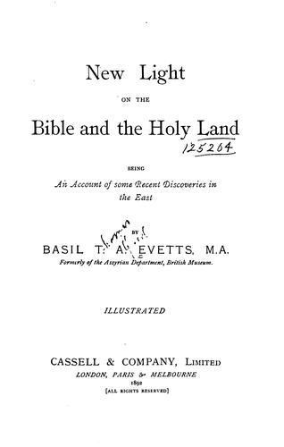 Download New light on the Bible and the Holy land