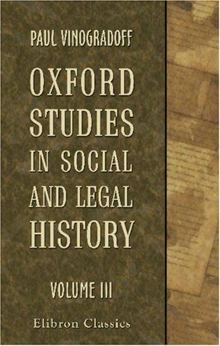 Download Oxford Studies in Social and Legal History
