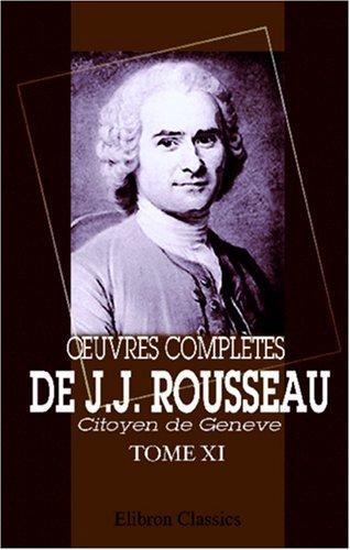 Download uvres complètes de J.J. Rousseau, citoyen de Genève