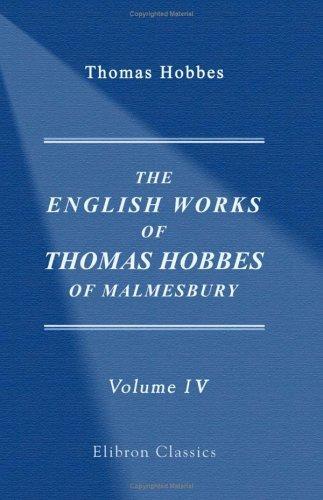 Download The English Works of Thomas Hobbes of Malmesbury