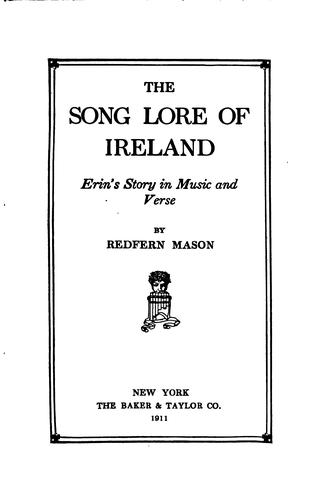 Download The song lore of Ireland