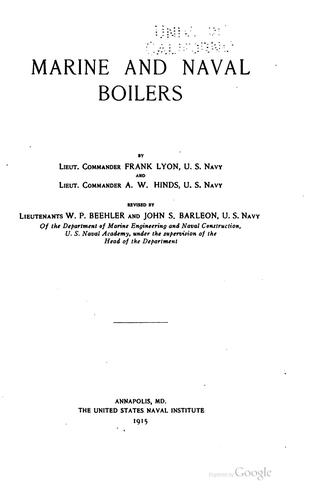 Download Marine and naval boilers
