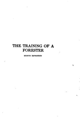 Download The training of a forester