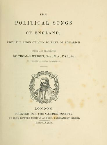 Download The political songs of England