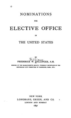 Nominations for elective office in the United States