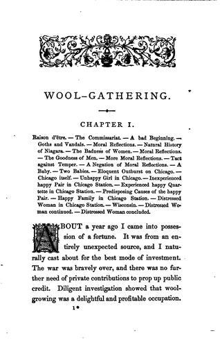 Wool-gathering.