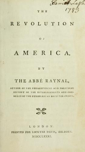 The revolution of America.