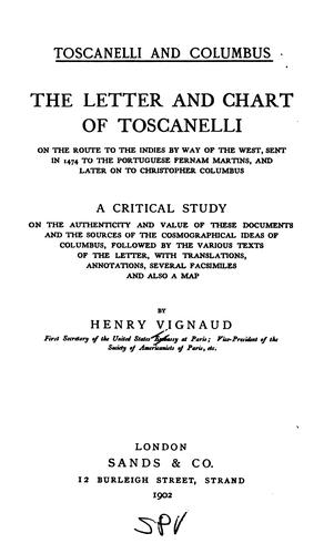 Download Toscanelli and Columbus.