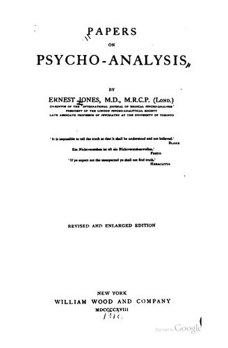 Download Papers on psycho-analysis