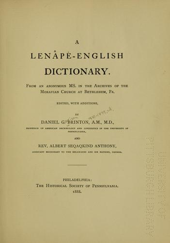 Download A Lenâpé-English dictionary.