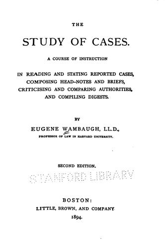 Download The study of cases