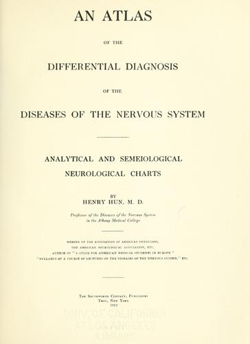 Download An atlas of the differential diagnosis of the diseases of the nervous system