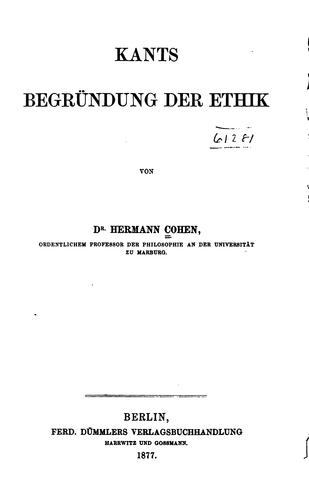 Download Kants Begründung der Ethik