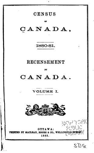 Census of Canada, 1880-81.