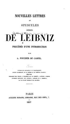 Download Nouvelles lettres et opuscules inédits de Leibniz