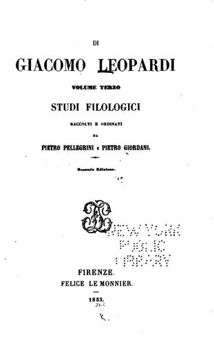 Studi filologici
