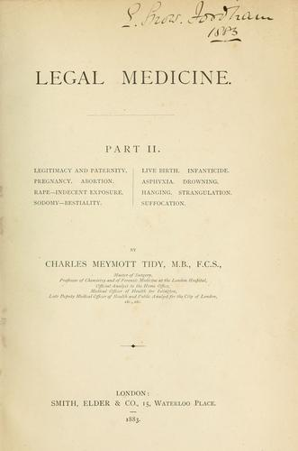 Download Legal medicine