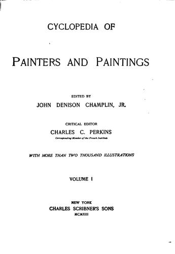 Cyclopedia of painters and paintings.