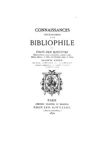 Download Connaissances nécessaires à un bibliophile