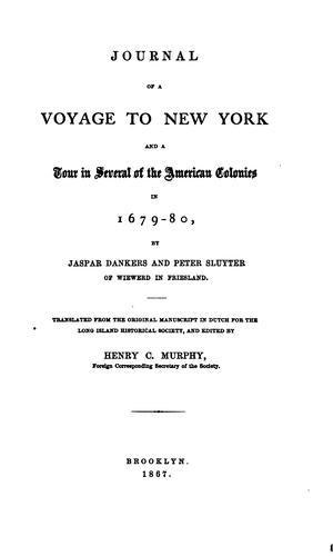Download Journal of a voyage to New York