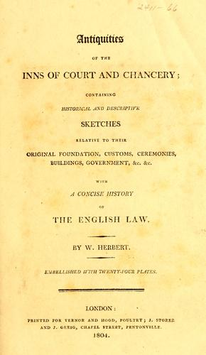 Download Antiquities of the inns of court and chancery