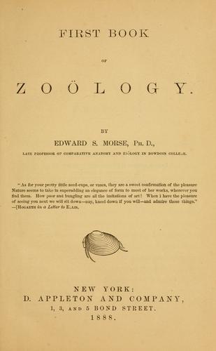 First book of zoölogy
